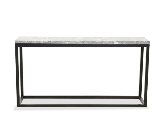 Contemporary Rectangular Console Table in Cerused Priano