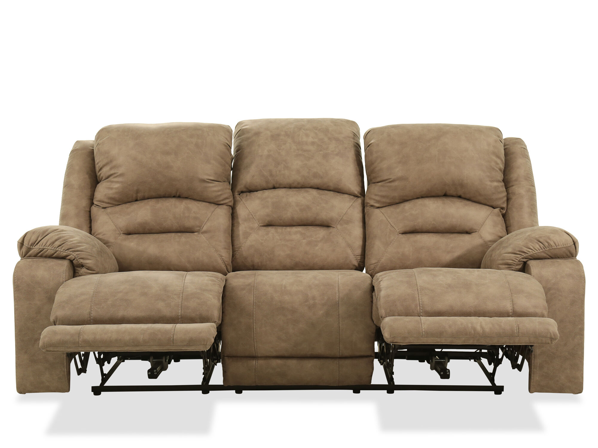 Contemporary 89 Power Reclining Sofa In Graystone Mathis