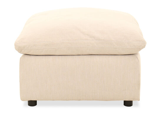 Oversized 32'' Ottoman in Ivory