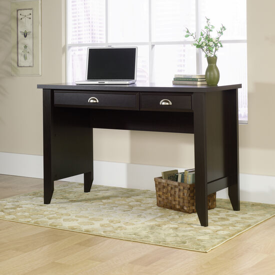 """47"""" Transitional Two-Drawer Computer Desk in Jamocha Wood"""