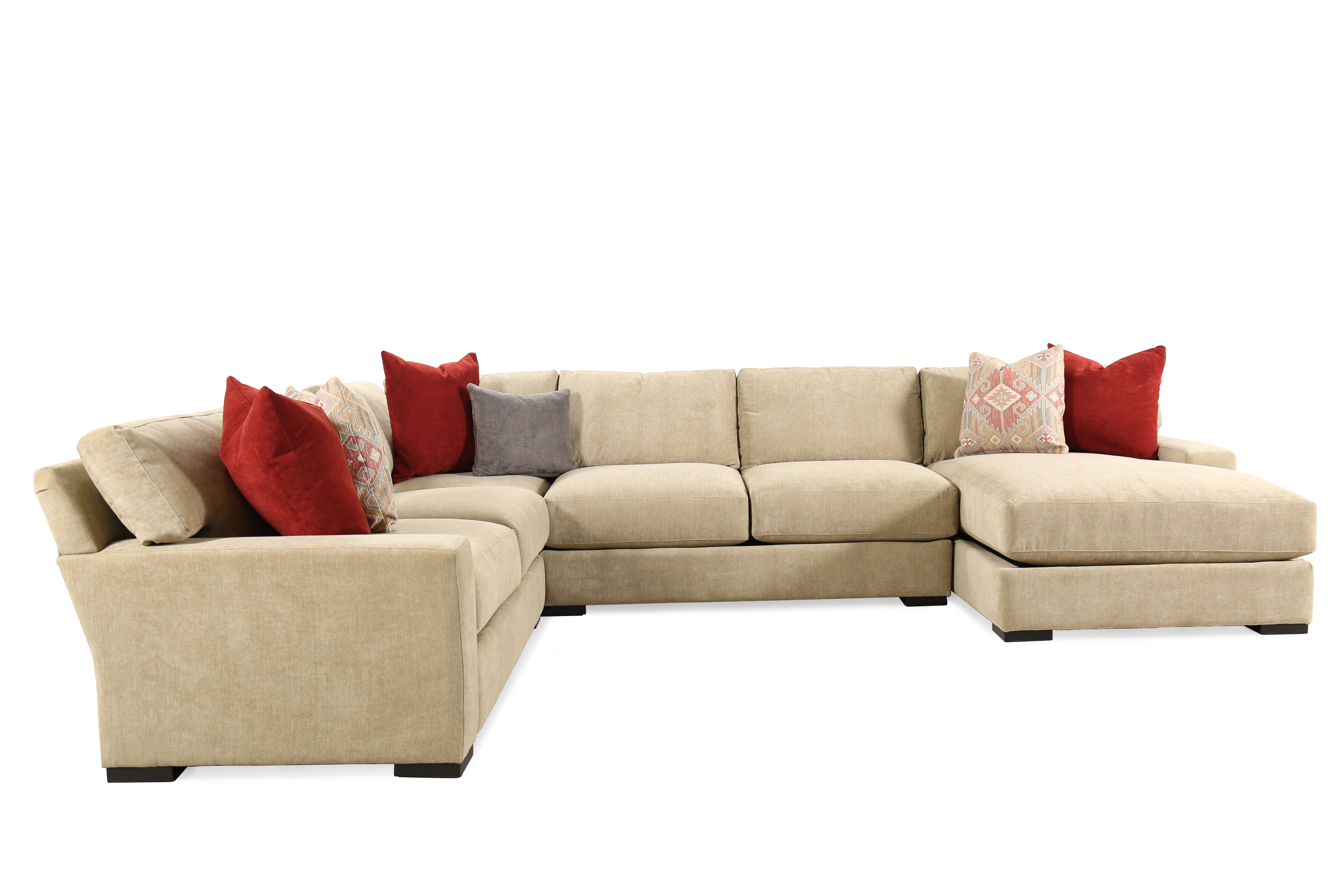 Jonathan Louis Martell Four-Piece Sectional  sc 1 st  Mathis Brothers : jonathan louis furniture sectional - Sectionals, Sofas & Couches