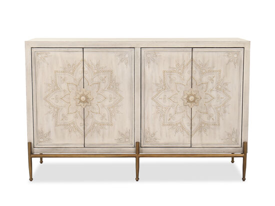 Traditional Four-Door Accent Chest in Cream