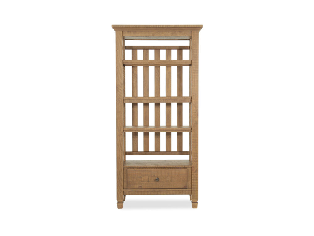 Traditional One-Drawer Pier Cabinet in Brown