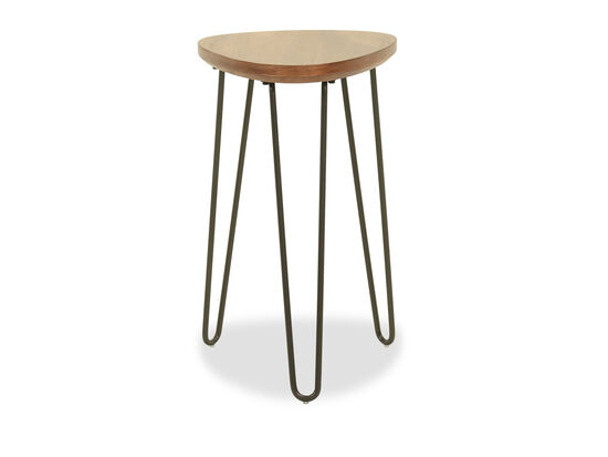 Modern Chairside End Table in Brown