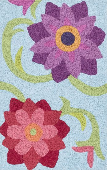 "Transitional 1'-9""x2'-9"" Rug in Lt. Blue/Berry"