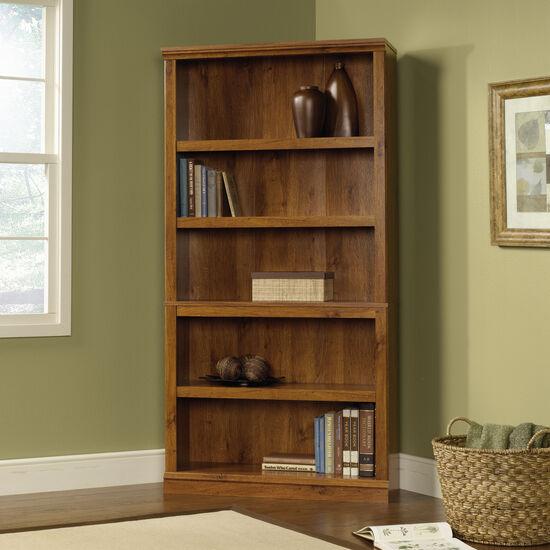 Transitional Adjustable Shelf Bookcase in Abbey Oak