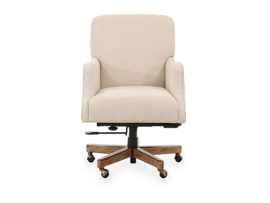 Transitional Swivel Executive Chair in Beige