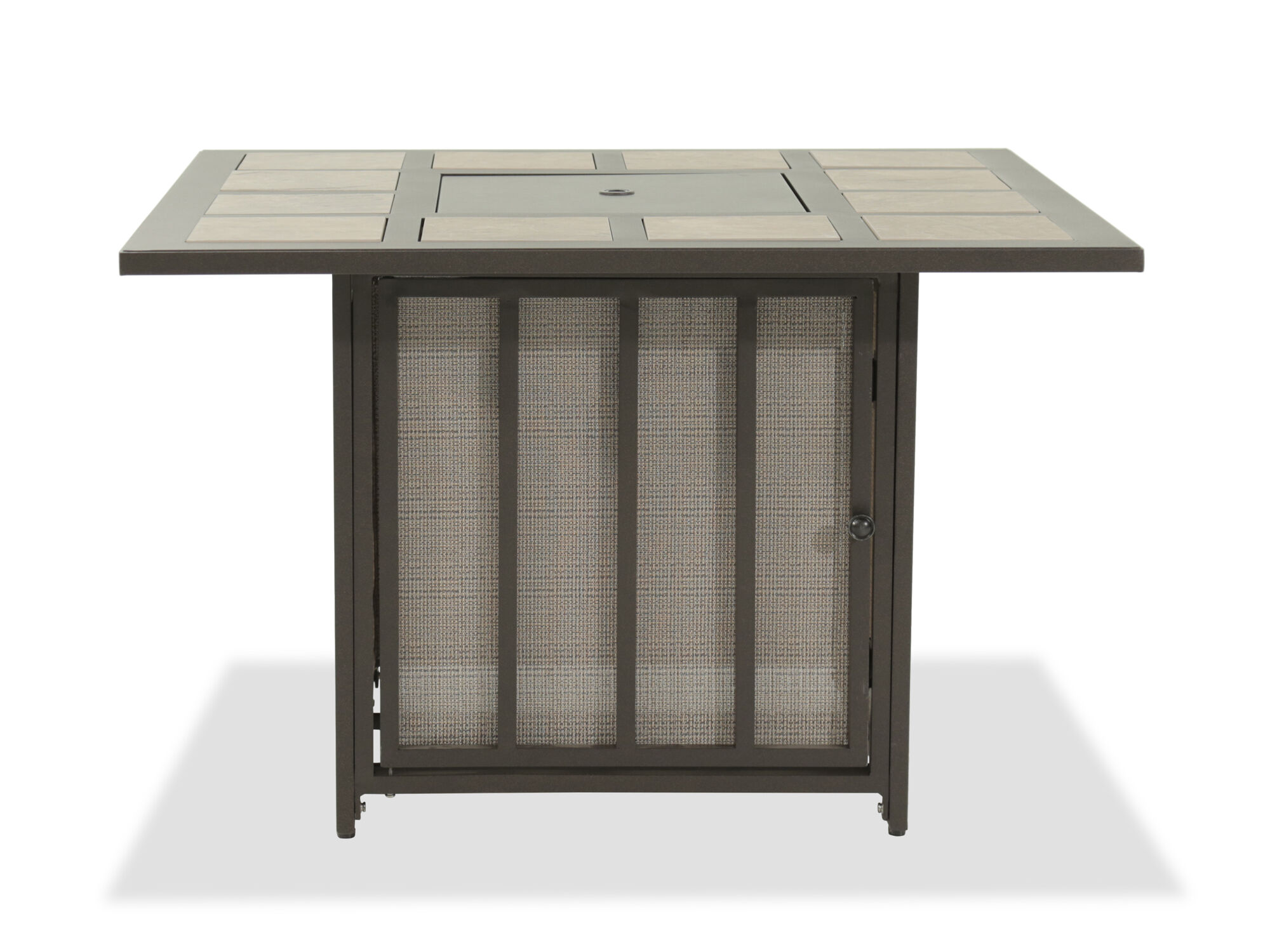 Ashley Wandon Dark Brown Outdoor Fire Pit Table