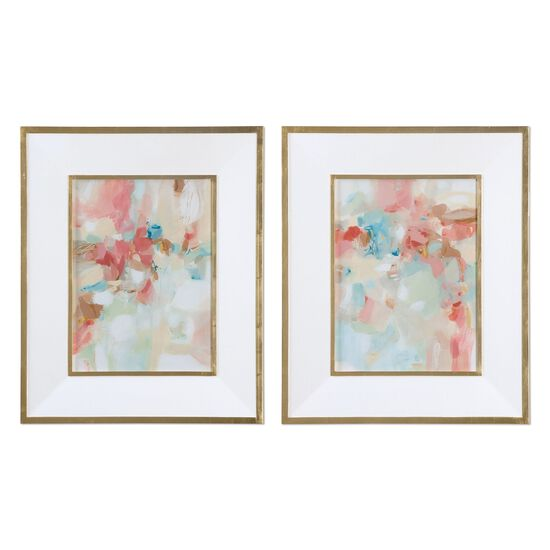 Two-Piece Abstract Printed Framed Wall Art Set