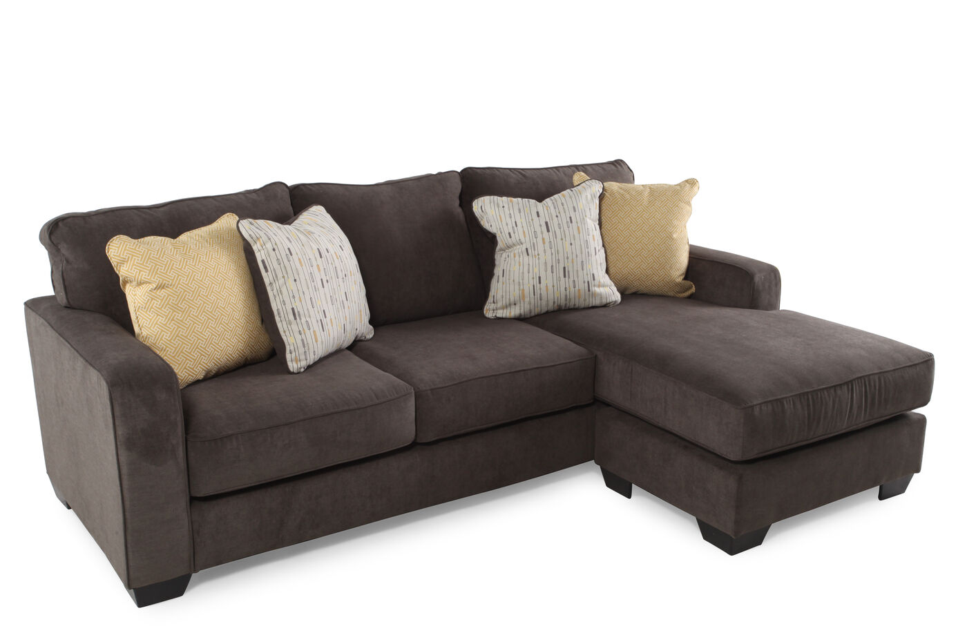 Two piece contemporary 93quot sectional in dark gray mathis for 2 piece sectional sofa with recliner