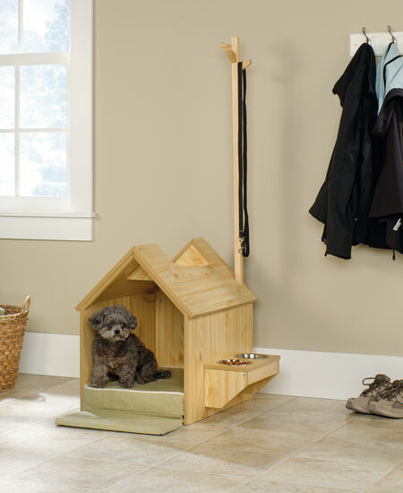 Contemporary Indoor Dog House in Light Pine