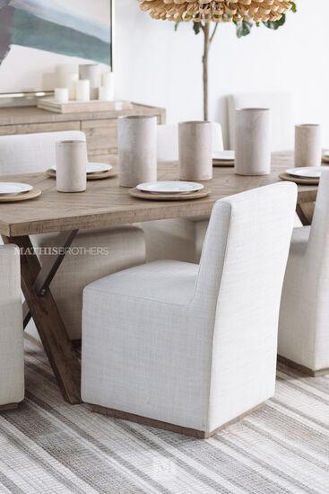 """Modern 35"""" Side Chair in Beige"""