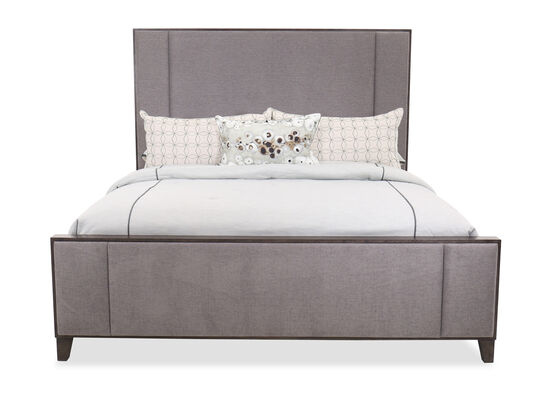 "68"" Casual King Panel Bed in Gray"