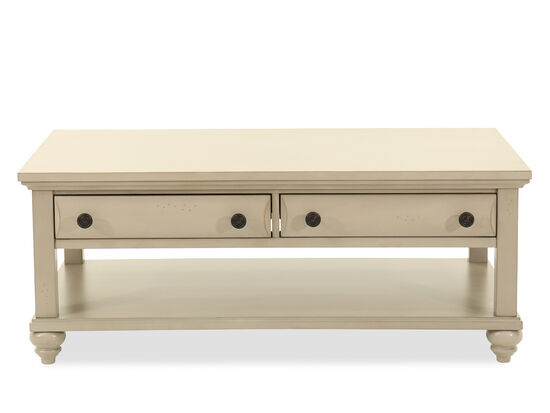 Two-Drawer Cocktail Table in Mineral Gray