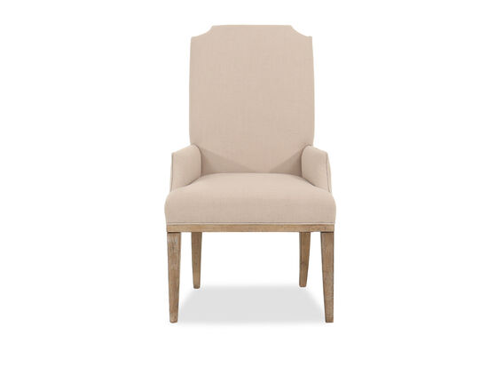 Casual 44'' Host Arm Chair in Beige