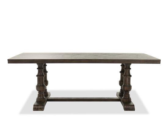 "Casual 84"" Pedestal Table in Dark Oak"