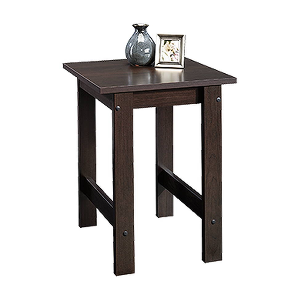 Square Contemporary Side Table In Cinnamon Cherry Mathis