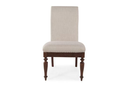 Turned Forelegs 40'' Side Chairin Cream