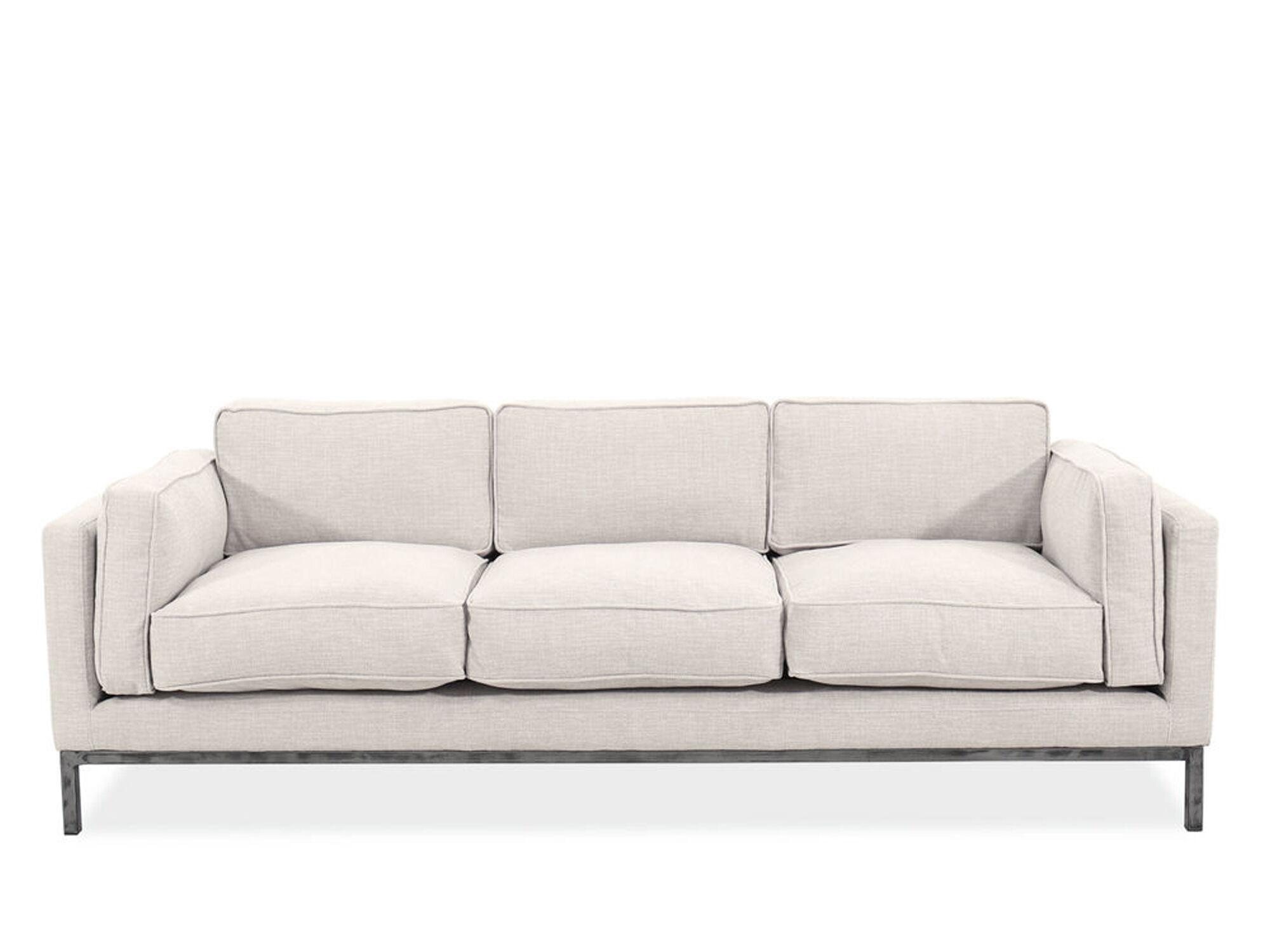 89 Quot Contemporary Low Profile Sofa In Beige Mathis