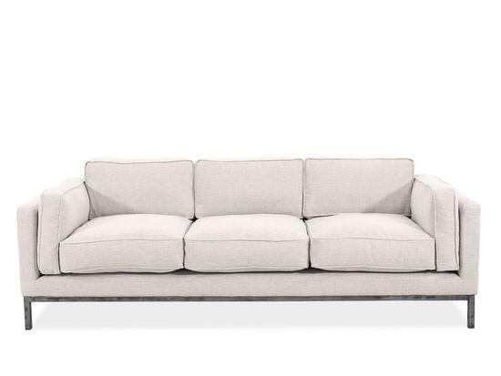 "89"" Contemporary Low-Profile Sofa in Beige"