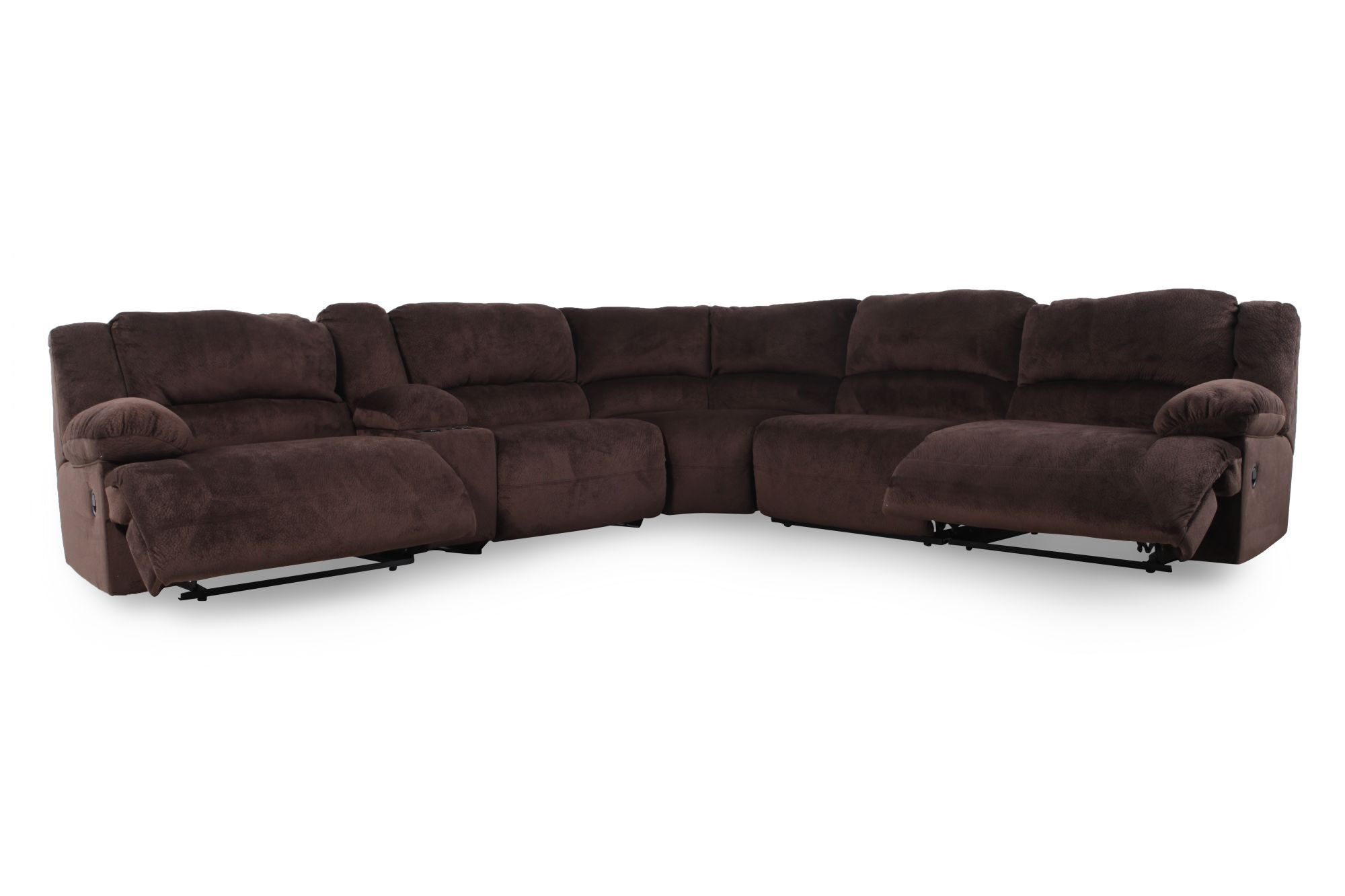 Microfiber 131 5 Sectional In Chocolate Brown Mathis Brothers Furniture
