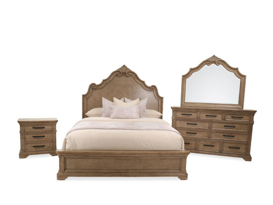 Four-Piece Transitional King Bedroom Suite in Brown