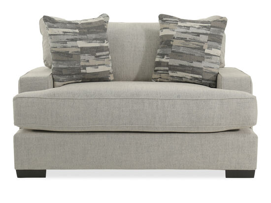 """Extra-Wide Casual 62"""" Chair in Gray"""