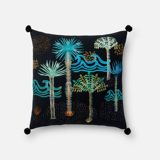 "18""x18"" Pillow Cover Only in Black/Multi"