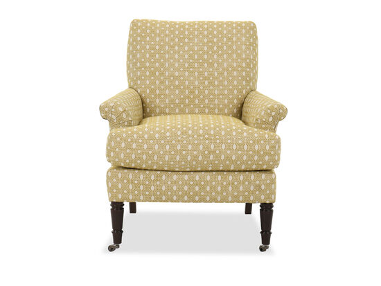 Traditional Patterned Accent Chair in Dijon