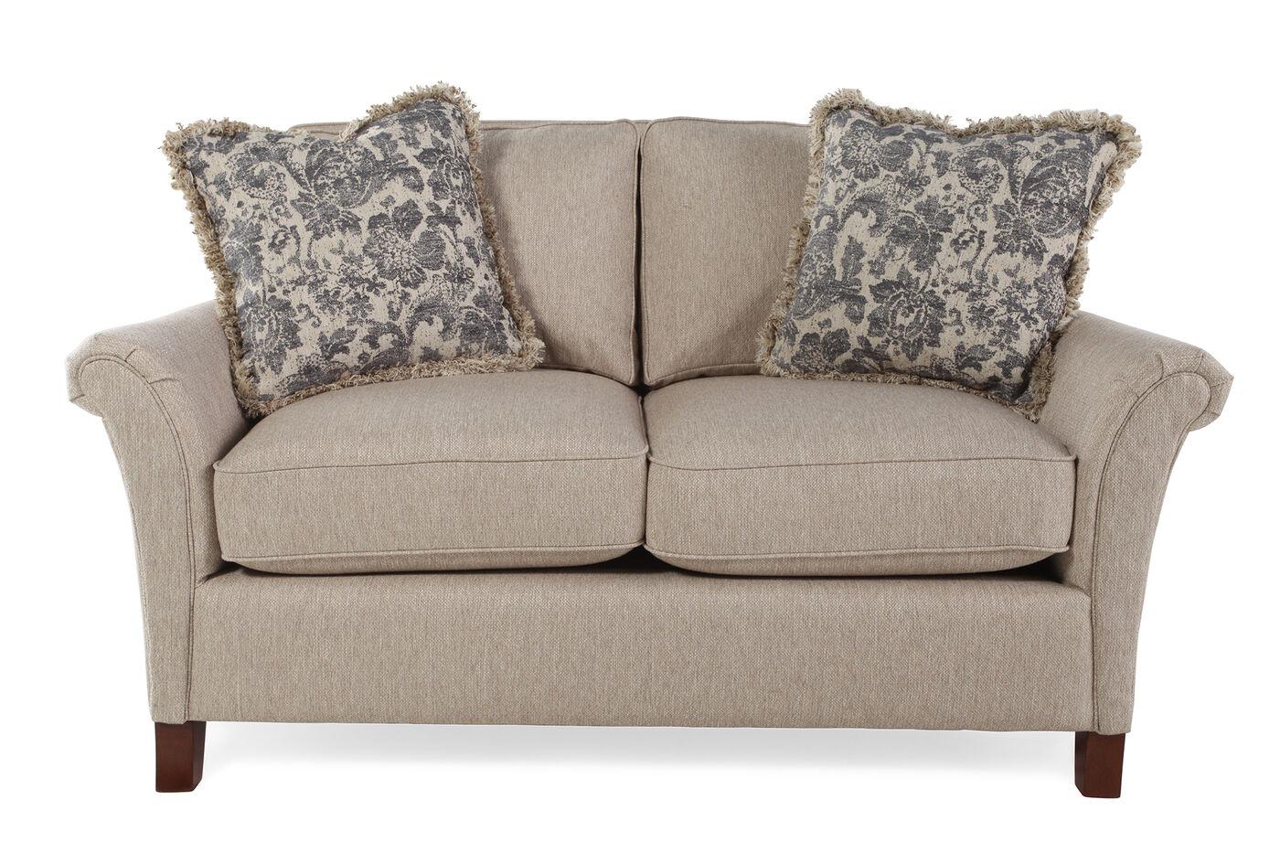 La Z Boy Sofas And Loveseats La Z Boy Leighton Sandstone Sofa Mathis Brothers Furniture Thesofa
