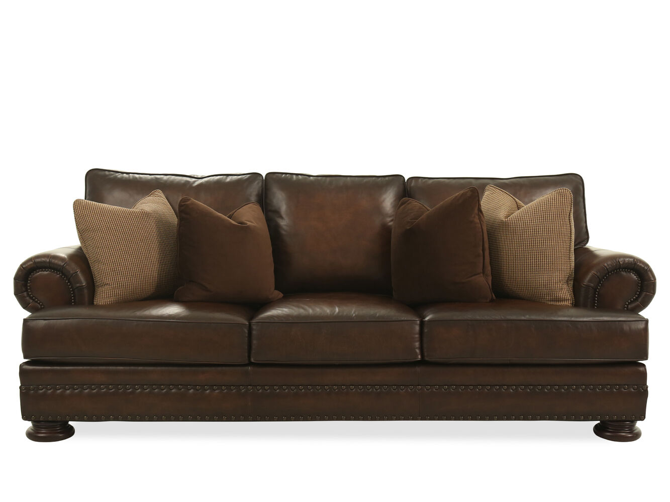 Mathis brothers leather sofas henredon leather sofa for Bernhardt furniture