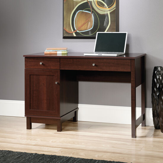 """46"""" Traditional Two-Drawer Desk in Cherry"""