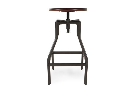 Adjustable Bar Stool in Pewter