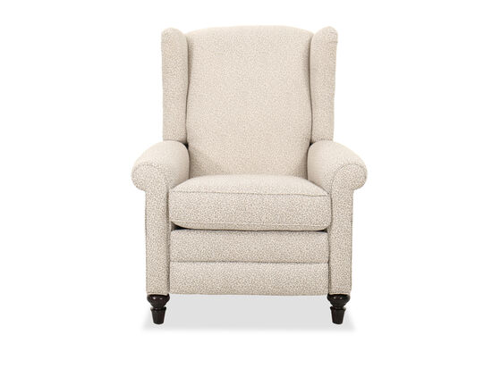 """Traditional Rolled Arm 34.5"""" Pressback Recliner"""
