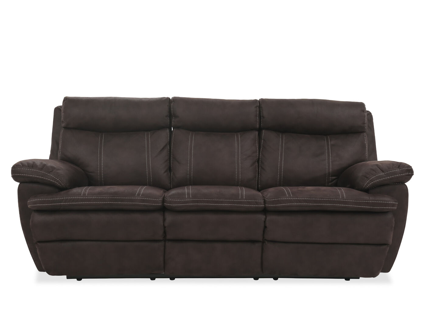 Power Reclining Microfiber 86 Quot Sofa In Brown Mathis