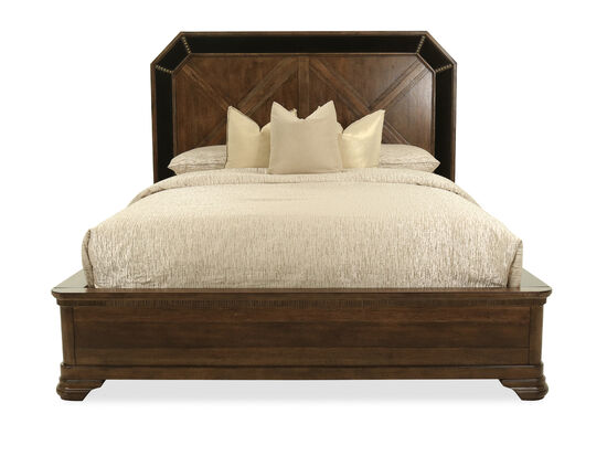 "23"" Traditional King Panel Bed in Brown"