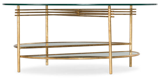 Well Balanced Round Cocktail Table in Gold