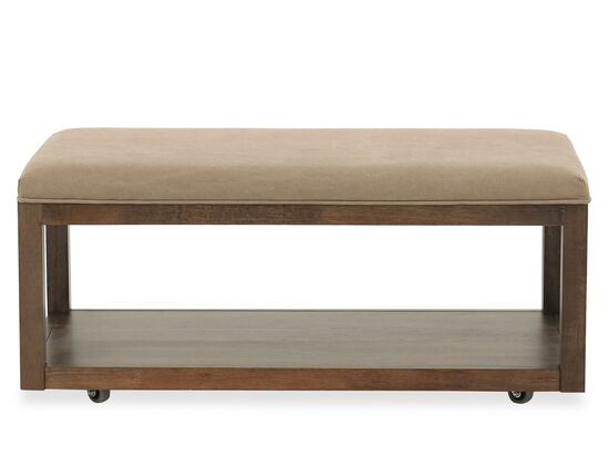 Contemporary Youth Bedroom Bench in Brown