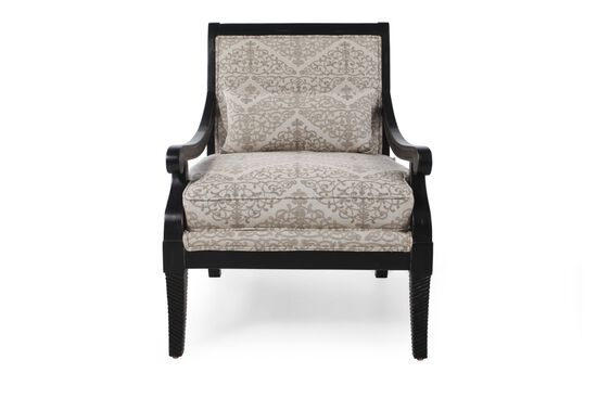 Doily Patterned Chair in Cream