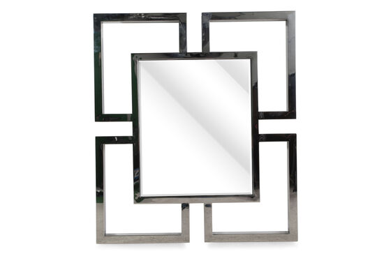 "42"" Glam Non-Beveled Accent Mirror in Bronze"