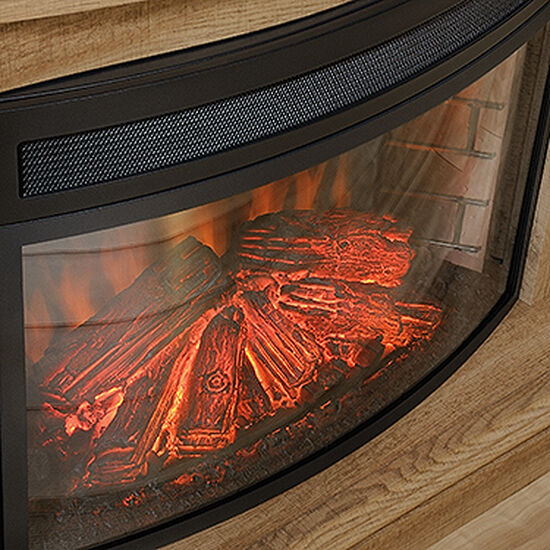 """18.5"""" Contemporary Fireplace Insert in Black"""