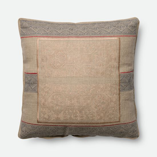 "22""x22"" Pillow Cover Only in Beige/Blue"