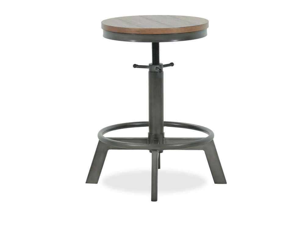 "Casual 24"" Armless Bar Stool in Gray"