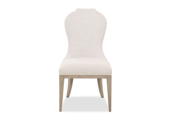"""Traditional 41"""" Side Chair in Beige"""