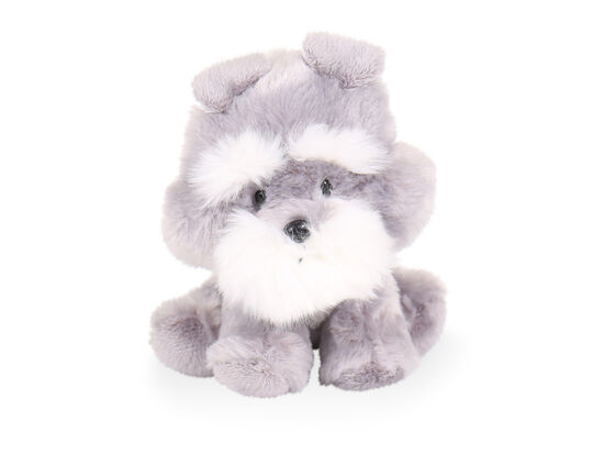 "6"" Wobbly Bobblee Plush Schnauzer Toy in Gray"