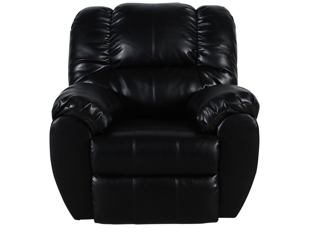 Contemporary Rocker Recliner in Onyx