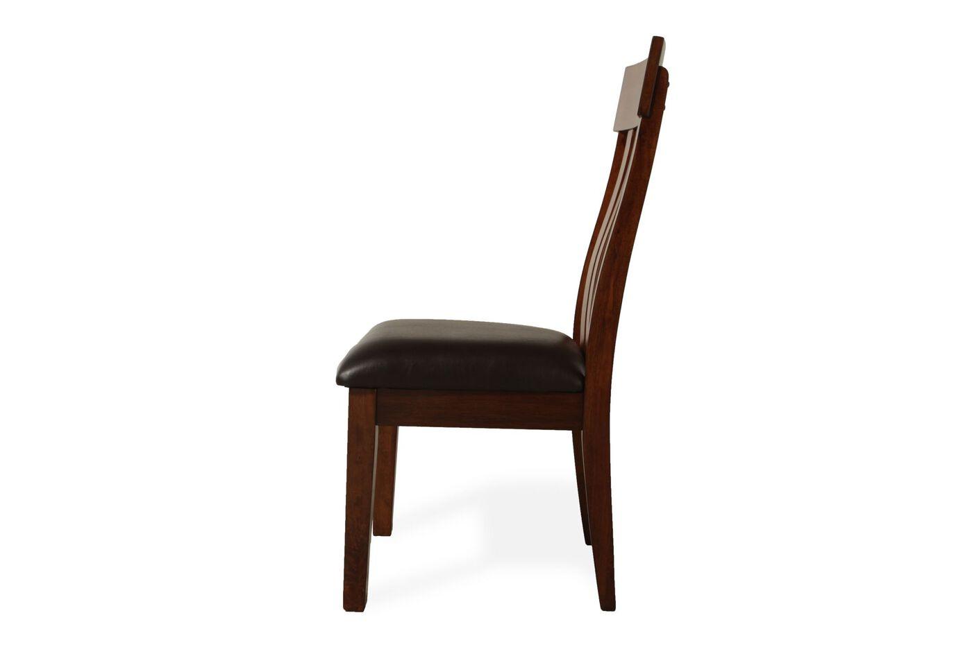 Two Piece Slatted Back 40 Side Chair Set In Rustic Oak