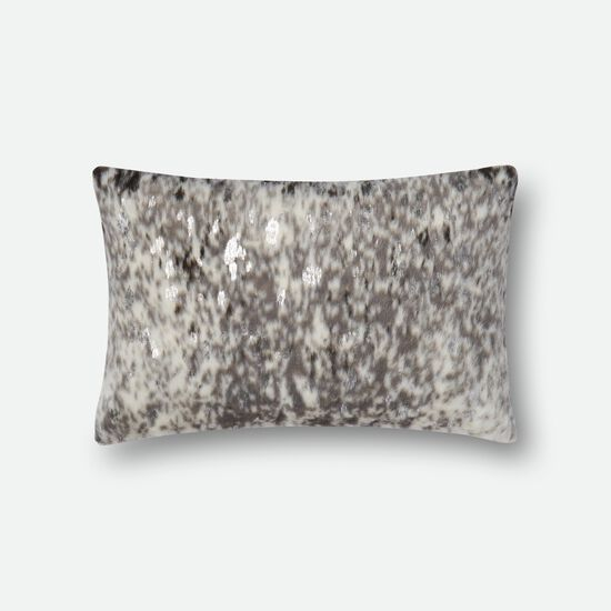 "Contemporary 13""x21"" Cover w/Poly Pillow in Stone/Silver"