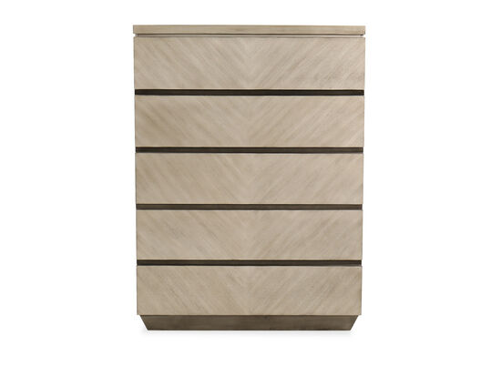 Five-Drawer Chest in Brown