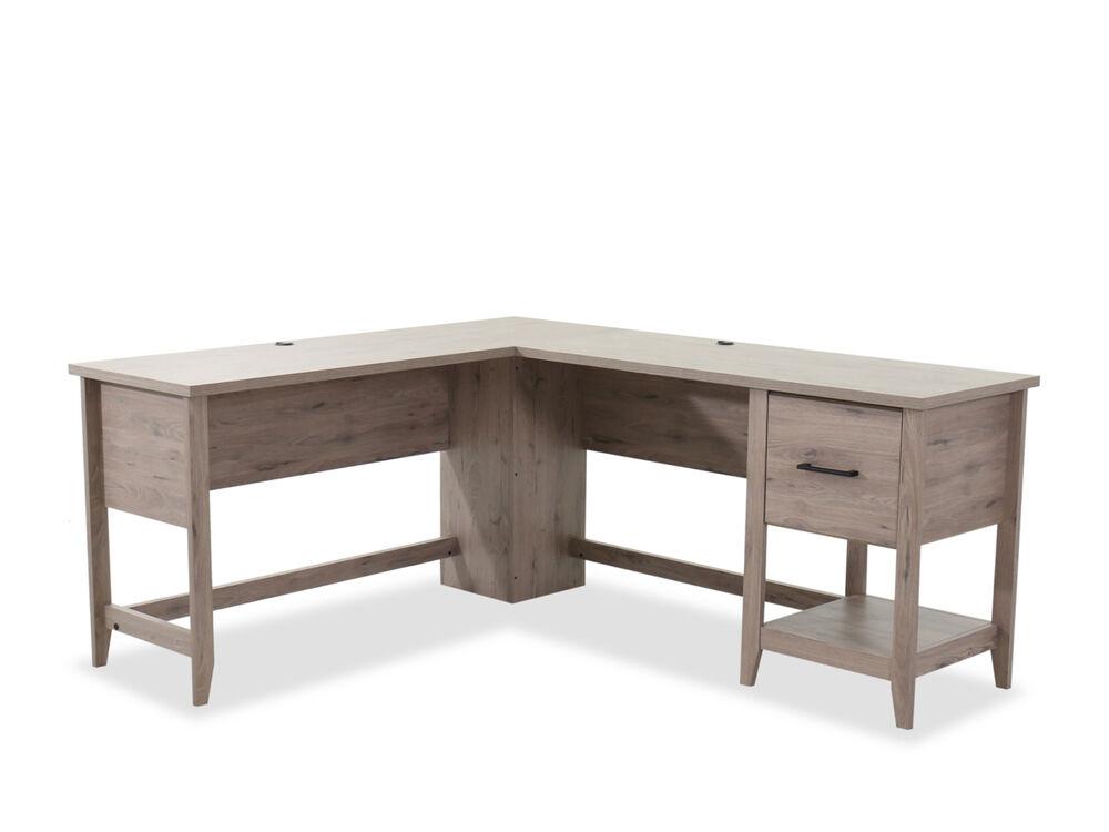 58 Wood Office Desk In Light Oak Mathis Brothers Furniture